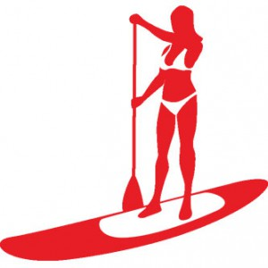 Female Paddle Boarder Sticker