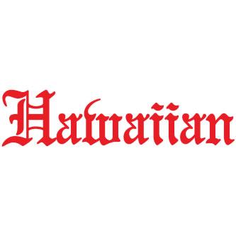 Hawaiian Sticker
