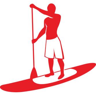 Male Paddle Boarder Sticker