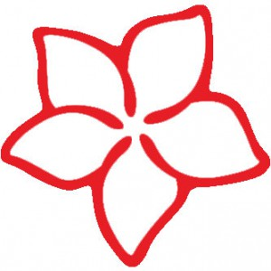 Hawaiian Plumeria Flower Sticker
