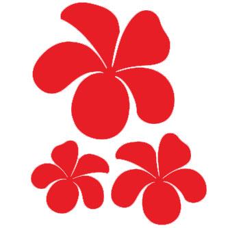 Hawaiian Plumeria Flower Sticker