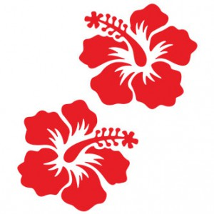 Small Hibiscus Flower Sticker