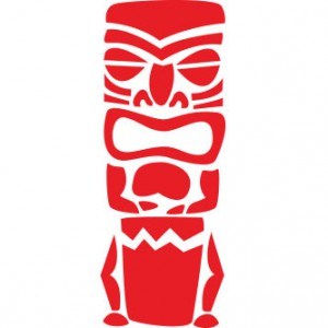 Hawaiian Tiki Sticker