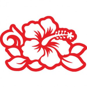 Hawaiian Hibiscus Flower Sticker