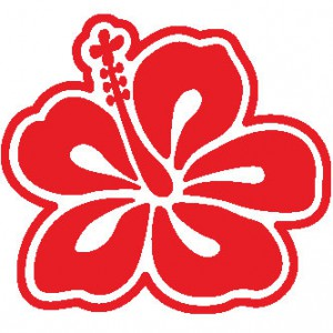 Hawaiian Hibiscus Sticker