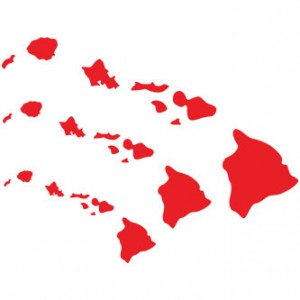 Hawaiian Islands Set Sticker