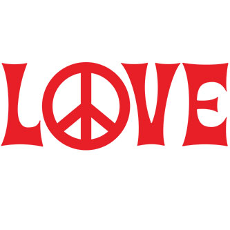 Hippie Love Sticker
