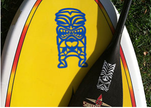 Tiki Paddle Board Sticker