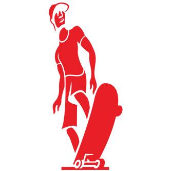 Skater Guy Sticker