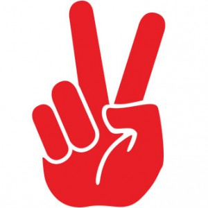 Peace Finger Sign Sticker