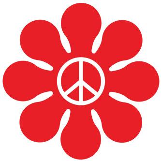 Peace Doodle Daisy Sticker
