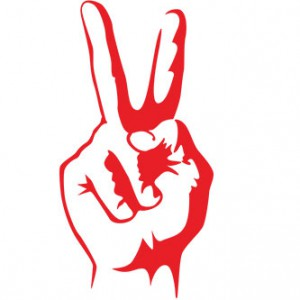 Peace Fingers Sticker