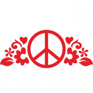 Peace Flowers Sticker