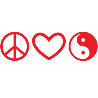 Peace Love and Harmony Sticker