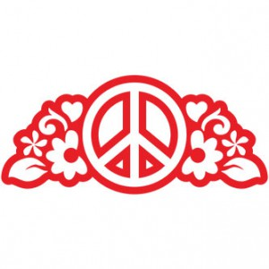 Peace Outline Sticker