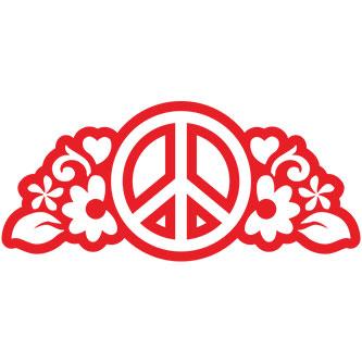Peace Outline Sticker