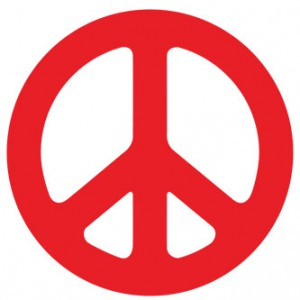 Peace Rounded Sticker
