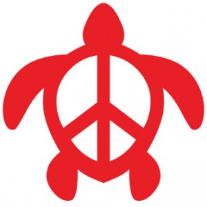 Peace Turtle Sticker