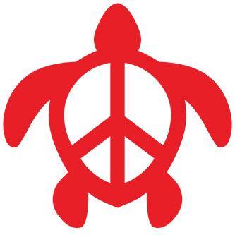 Peace Turtle Sticker